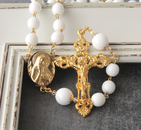 White & Gold Rosary, Our Lady of Sorrows Center