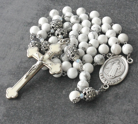 Saint Benedict Rosary, Large Beads for Prayer, Presentation or Display