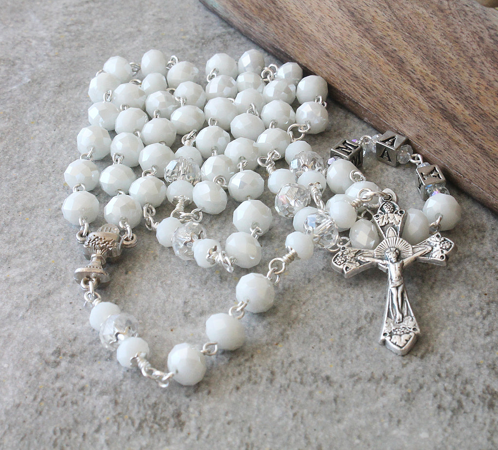 First Communion Catholic rosary for girl
