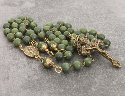 Traditional Catholic rosary beads NZ handmade