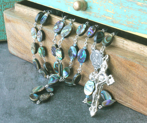 Paua Shell Rosary, Sacred Heart Center