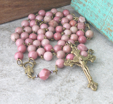 Dominican rosary for woman, handmade in New Zealand