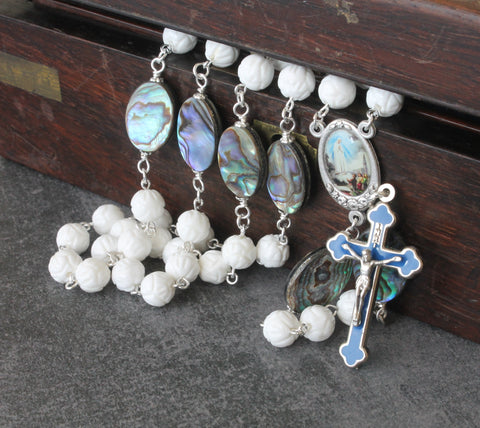 Our Lady of Fatima rosary, handmade in New Zealand