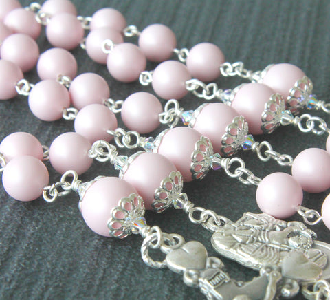 Swarovski pearl rosaries, handmade in New Zealand
