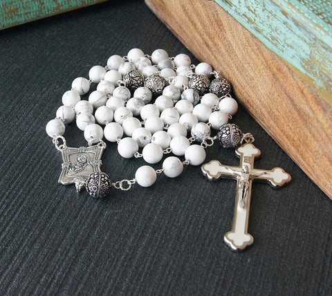 Large Catholic rosary handmade in New Zealand