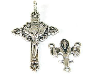 Rosary Making Set, Florentine Crucifix & Marian Center