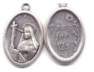 St Rita Medal, Patron Saint of Loneliness and Impossible Causes