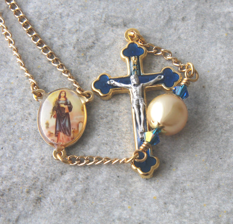 St Agatha and St Peregrine Decima Rosary, Patron Saints of Cancer Sufferers