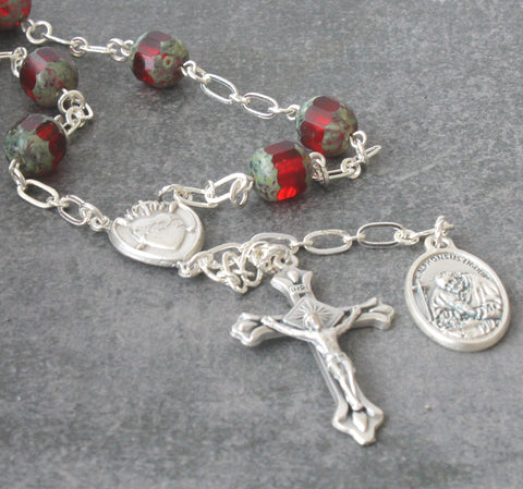 Arthritis patron saint Alphonsus prayer beads