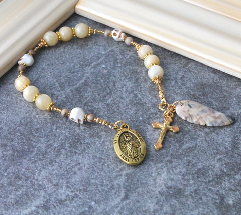 Saint Jude chaplet rosary with angels wing