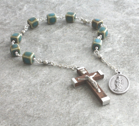 Saint Matthew chaplet rosary prayer beads niner