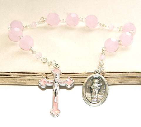 St Agatha Chaplet, Patron Saint of Breast Cancer Prayer Beads