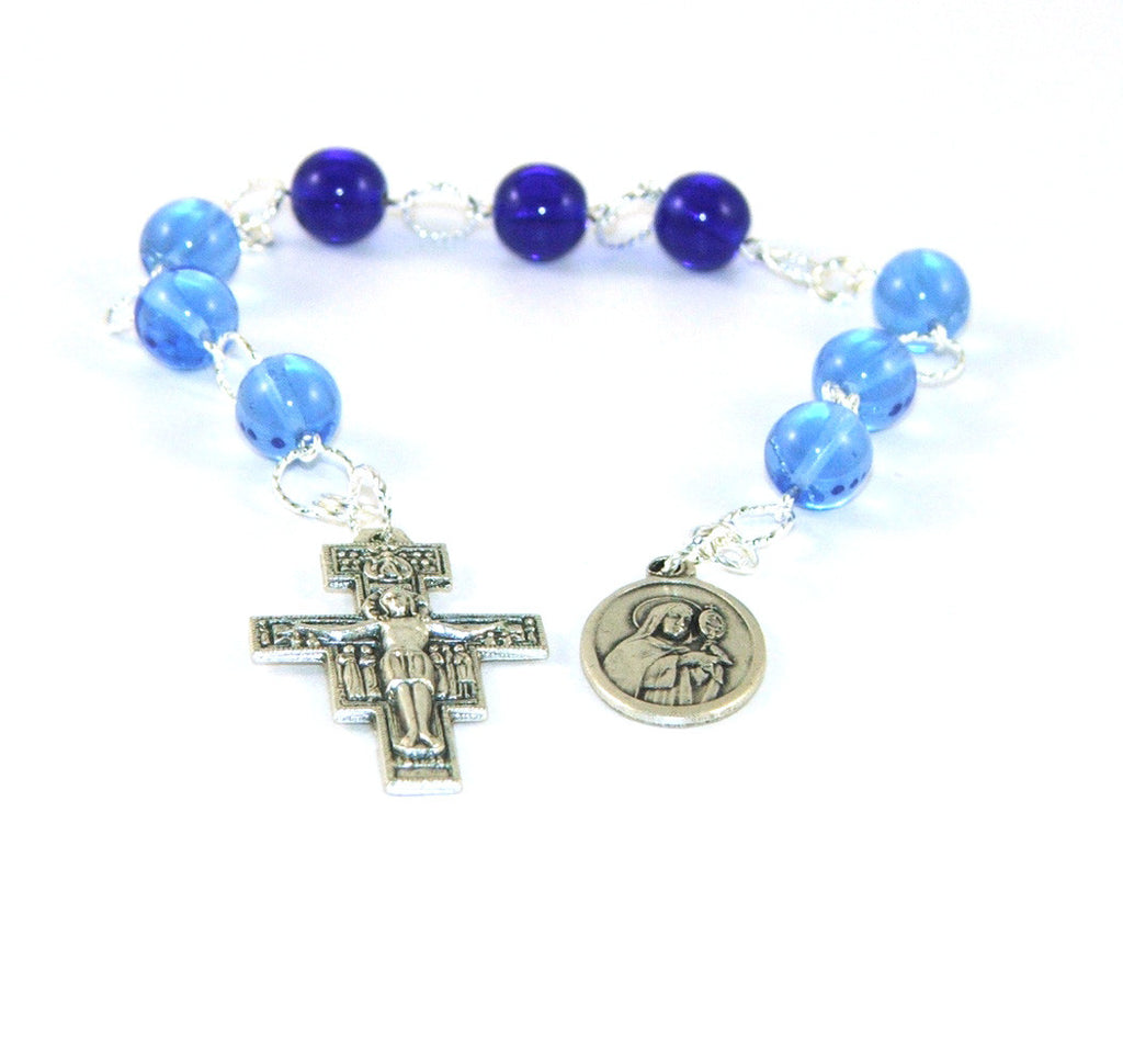 Saint Clare of Assisi chaplet rosary