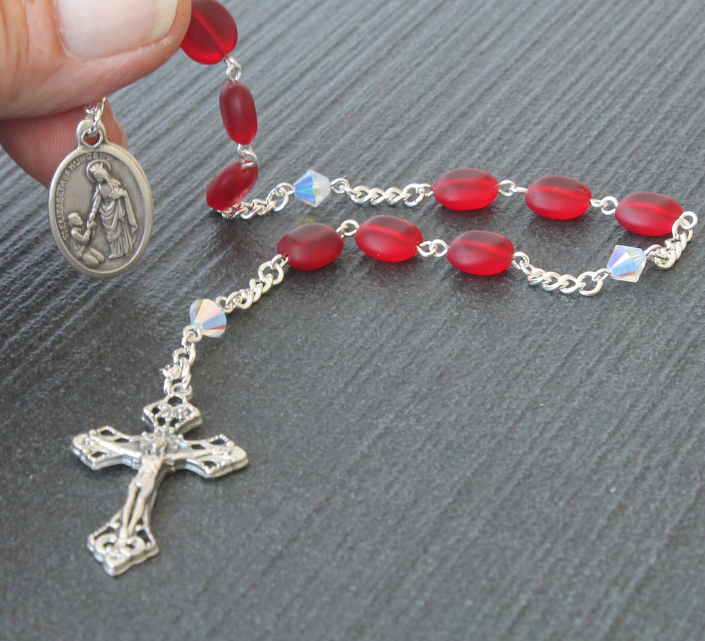 Elizabeth of Hungary chaplet rosary, New Zealand made