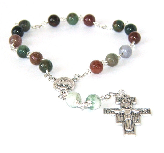 Saint Francis of Assisi rosary chaplet beads