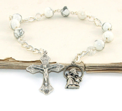 Saint Francis niner rosary prayer beads