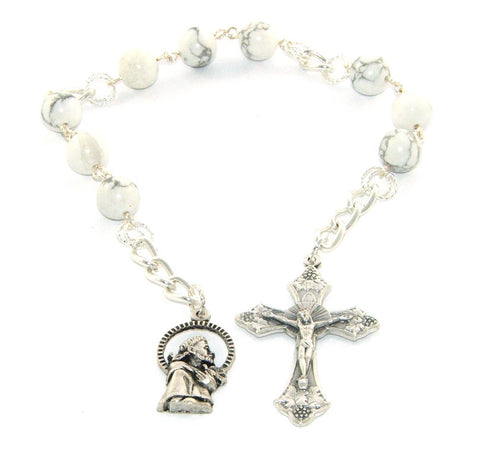 St Francis of Assisi Pocket Rosary - Niner Style Chaplet Rosary