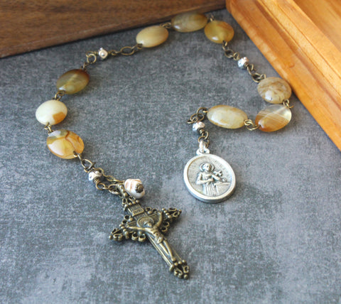 St Gerard Our Lady of Perpetual Help Chaplet with Memento Mori