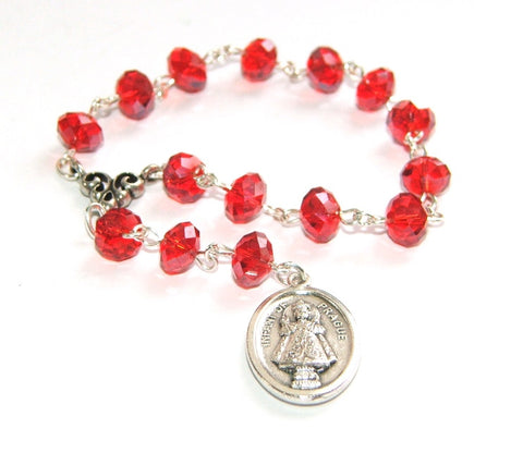 Infant of Prague Chaplet Rosary, Catholic Prayer Beads