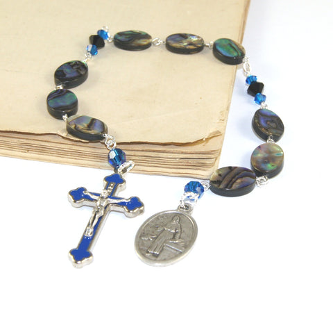 Saint Luke Apostle prayer beads, handmade in NZ