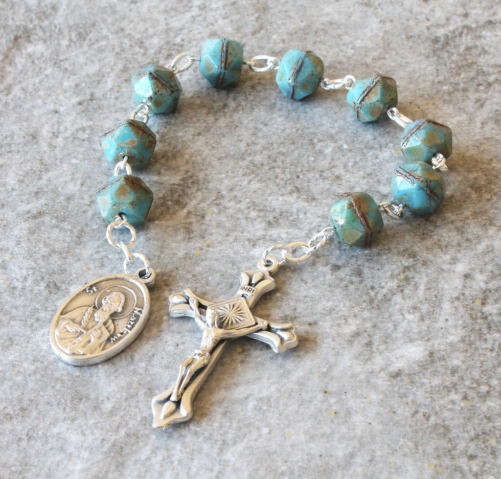 Saint Matthew the Apostle chaplet rosary, New Zealand made
