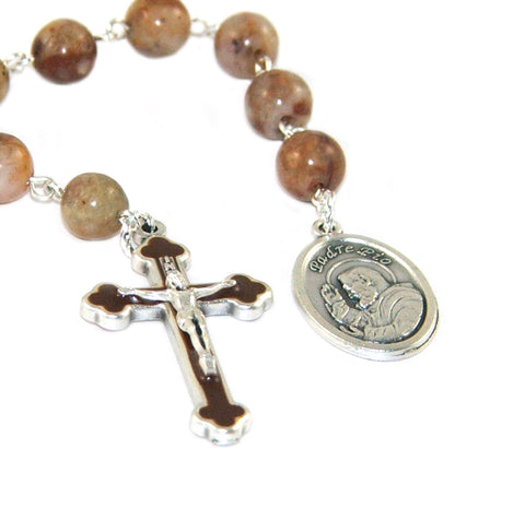 Saint Pio niner chaplet, handmade in New Zealand