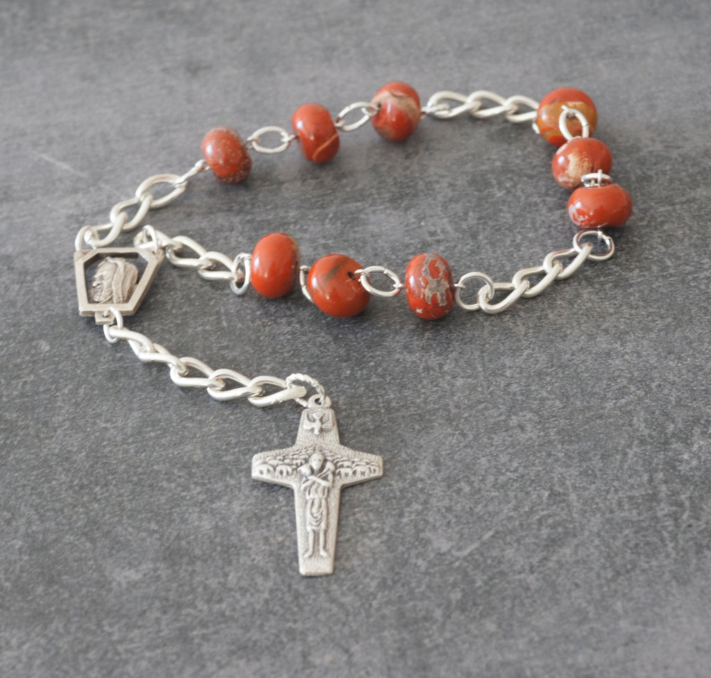 Saint Padres Pio chaplet rosary handmade in New Zealand