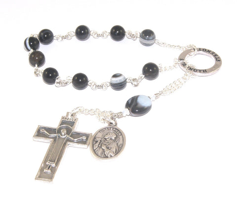 St Stephen Pocket Rosary - Christian Martyr Prayer Beads