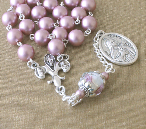 St Therese Chaplet Rosary - The Little Flower of the Child Jesus