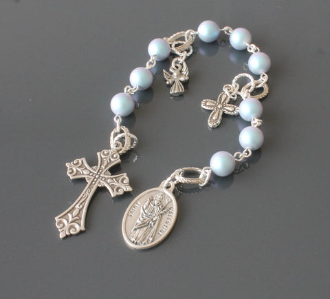 Saint Valentine chaplet rosary, handmade in New Zealand