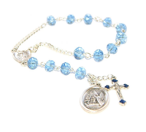 Guardian Angel Chaplet Rosary, Small Catholic Pocket Rosary Prayer Beads