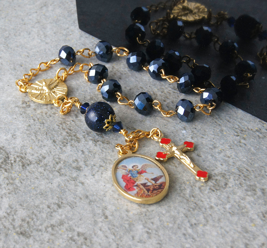 Confirmation gift for teen, Saint Michael rosary