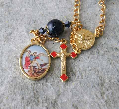 St Michael Archangel pocket rosary