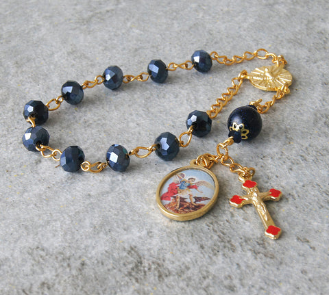 Gosparent gift for confirmation, handmade chaplet