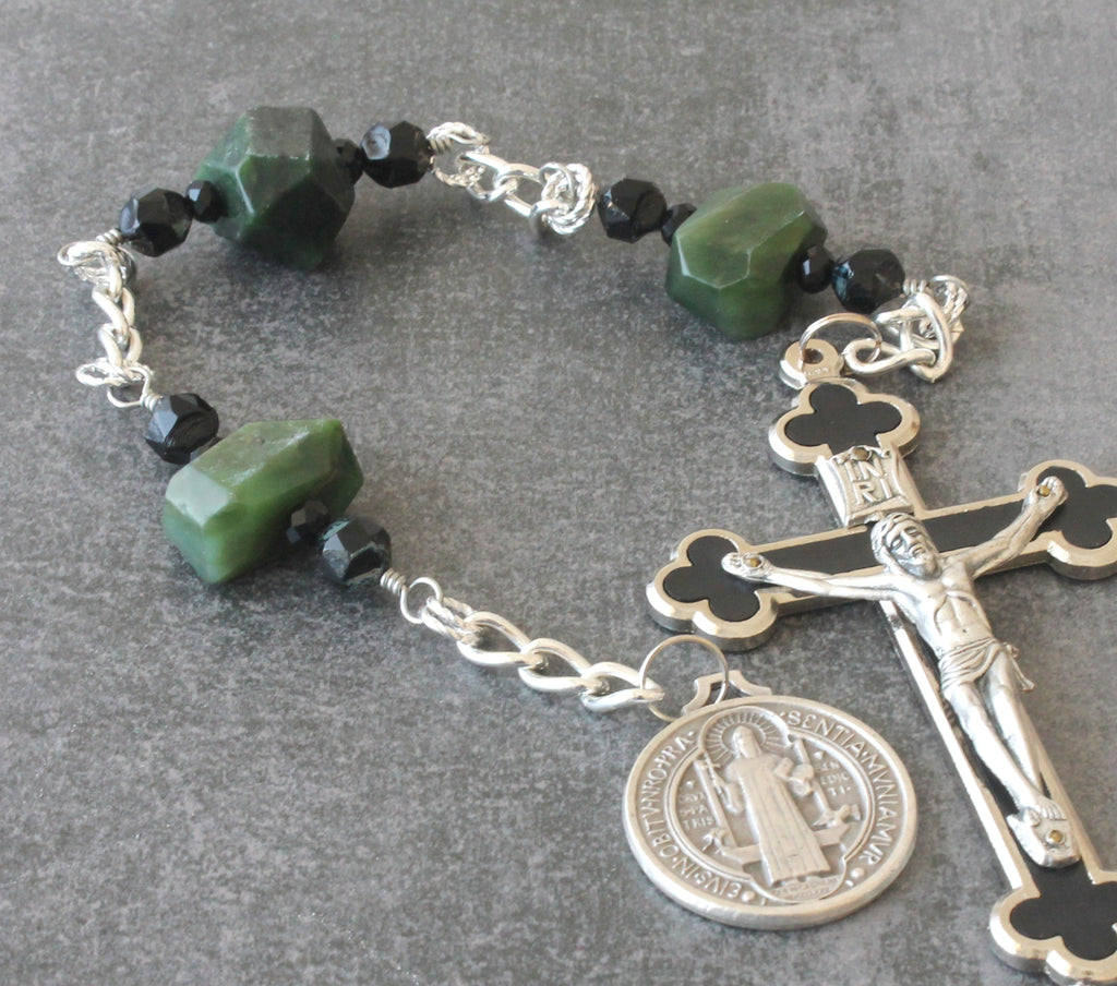 Saint Benedict chaplet rosary, wall or hands