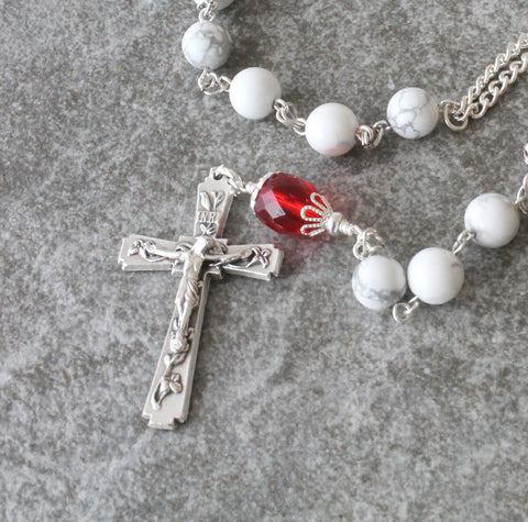 Confirmation gift, sacred Heart rosary