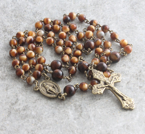 6 decade Brigittine rosary, New Zealand Catholic shop
