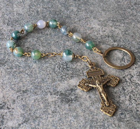 Handade rosary for the pocket