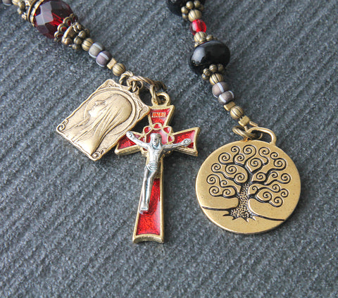 Mary, Our Lady of Lourdes - Tree of Life Catholic Pocket Rosary