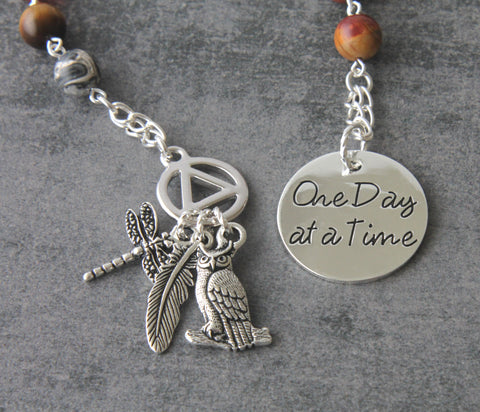 One day at a time meditation beads, alcoholics anonymous