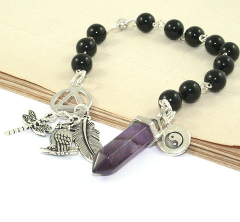 Sobriety Prayer & Meditation Beads, Mindfulness Beads for Recovery