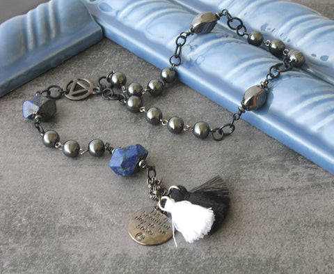 Recovery prayer beads, 12 step meditation, New Zealand made