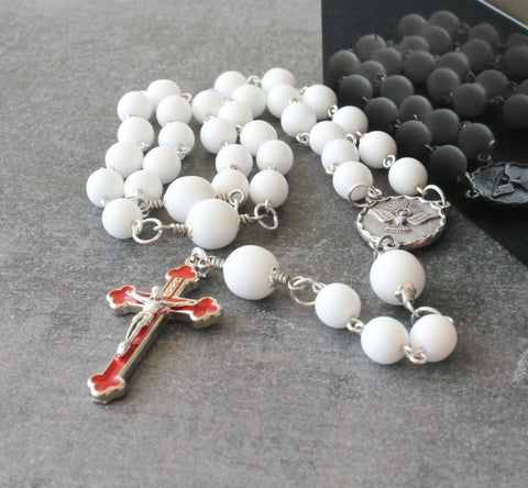 Catholic Rosary Beads, 3 Decade Rosary, Holy Spirit Center
