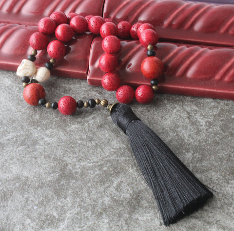 New Zealand made historic rosaries, red coral paternoster