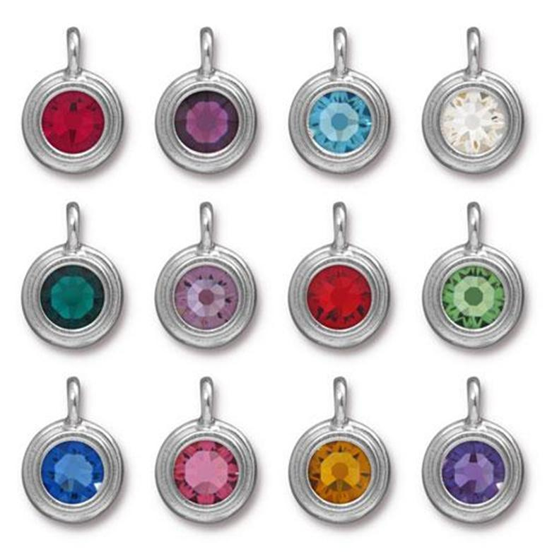 Personalize with Swarovski Crystal Birthstone Charms