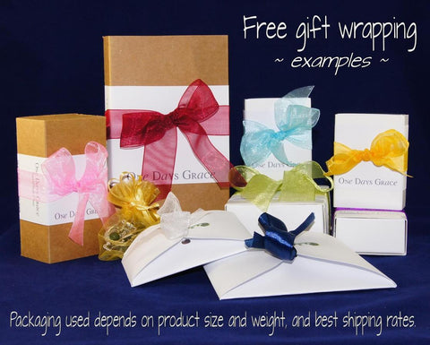 Gift wrapping samples