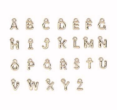 Personalize with Silver or Gold Letter Charms of Your Choice
