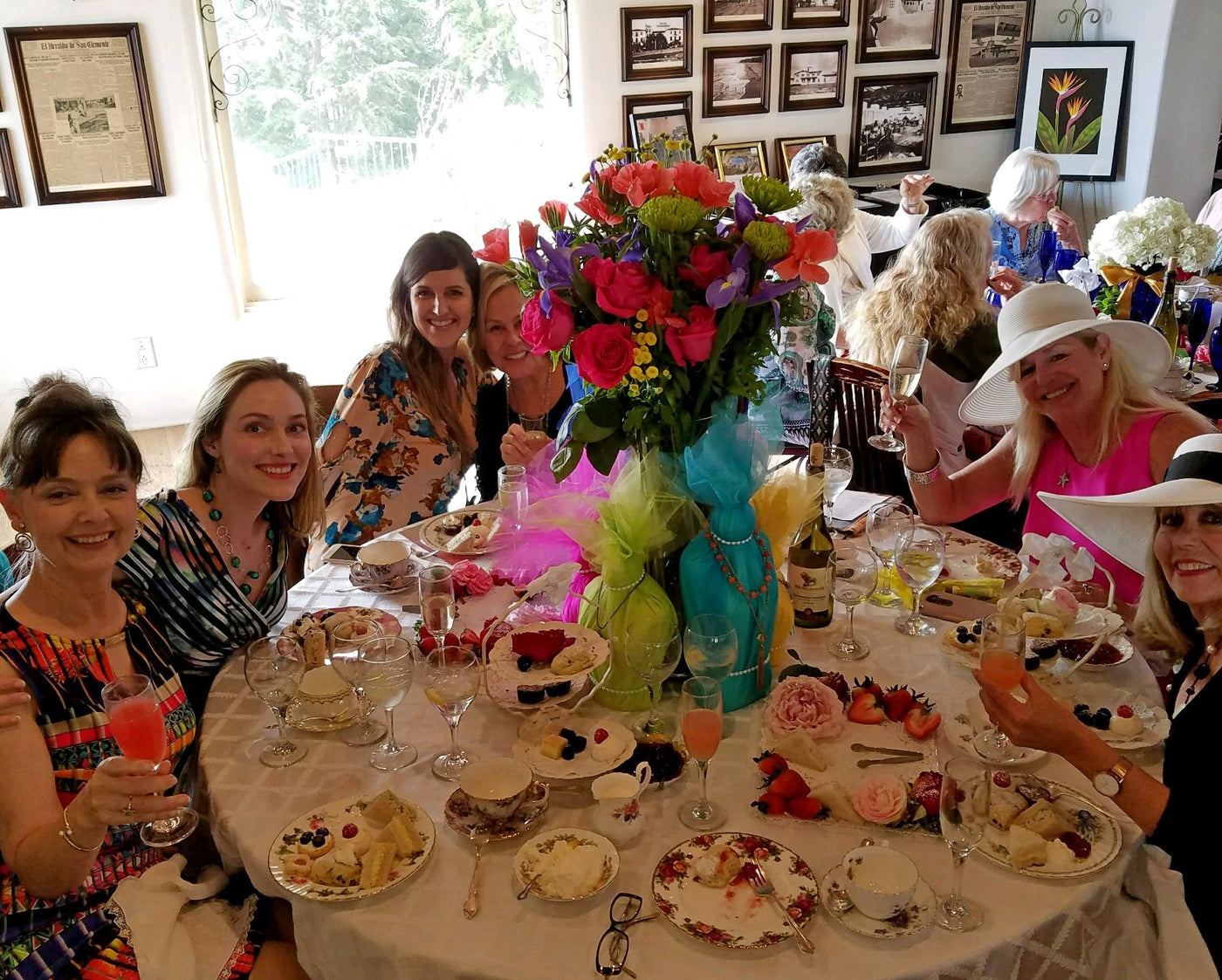 Rascal's Ladies Boutique Hosts Table at Casa Romantica's Mary Colby Tea Party Fundraiser.