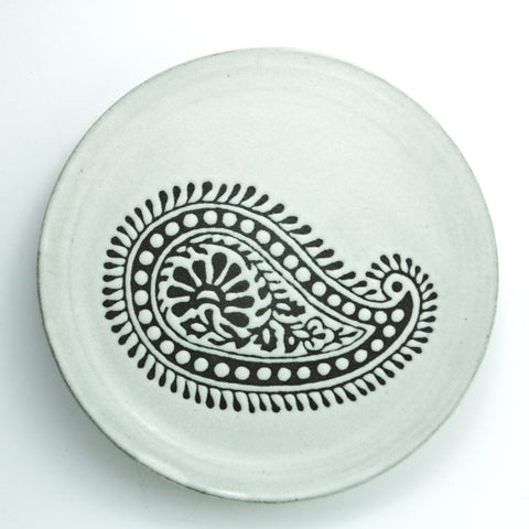 Dinner Plate, Paisley: Sita, Antique White
