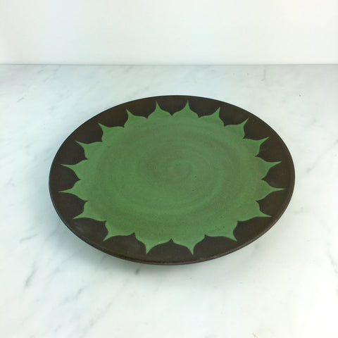 Dinner Plate, Moroccan Pattern, Grass Green